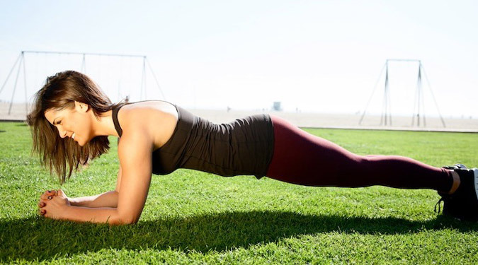 what muscles does the plank work