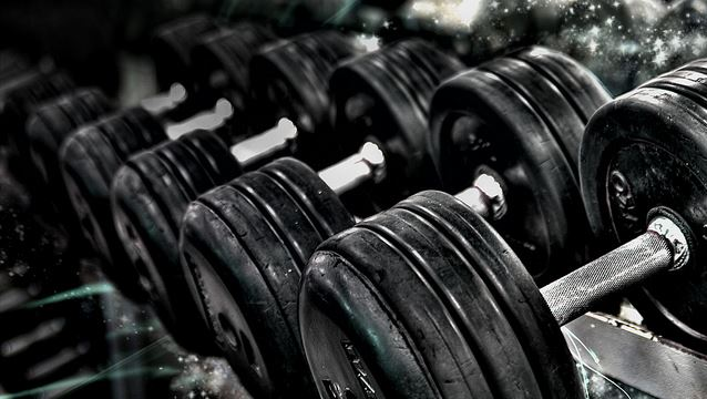 photo of dumbbells