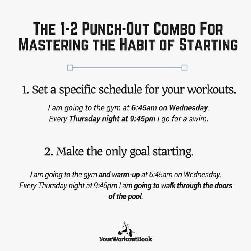 Conquer Your Workouts By Mastering the Habit of Starting