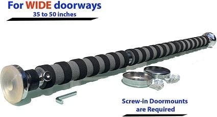 Best Locking Pull Up Bar for Wide Doorways -- Garren Fitness Chin Up Bar