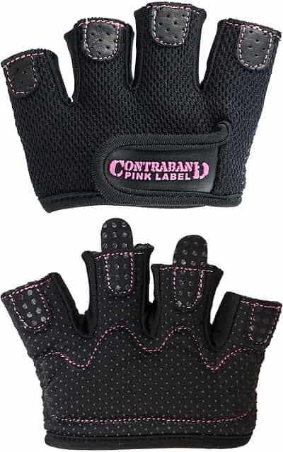 Best Weight Lifting Gloves for Women - Contraband Pink Label 5537 Micro Gloves
