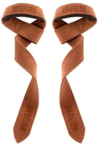 Best leather lifting straps - Deselen Weight Lifting Leather Straps