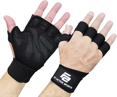 Fit Active Weight Lifting Gloves with Wrist Support