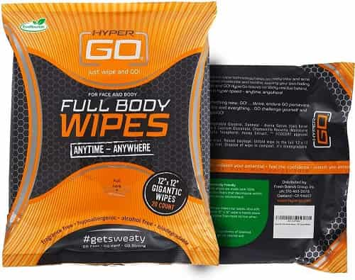 Best Travel Fitness Equipment - HyperGo Full Body Wipes