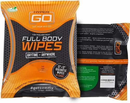 Best Travel Fitness Equipment - HyperGo Full Body Wipes