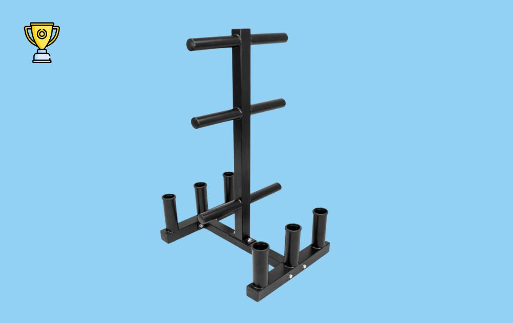 Crown Sport Olympic Weight and Barbell Rack