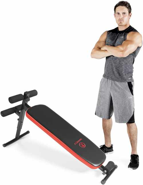 Marcy Utility Sit-Up Bench with Headrest