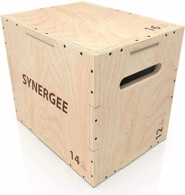 Synergee 3-in-1 Wooden Plyometric Box