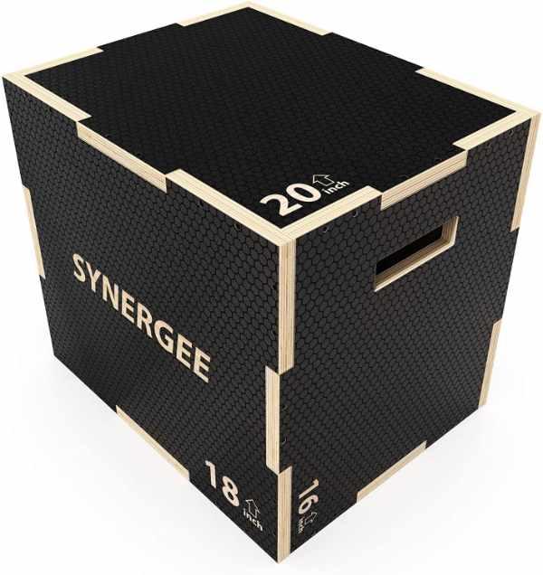 Synergee Non-Slip Wooden Plyometric Box