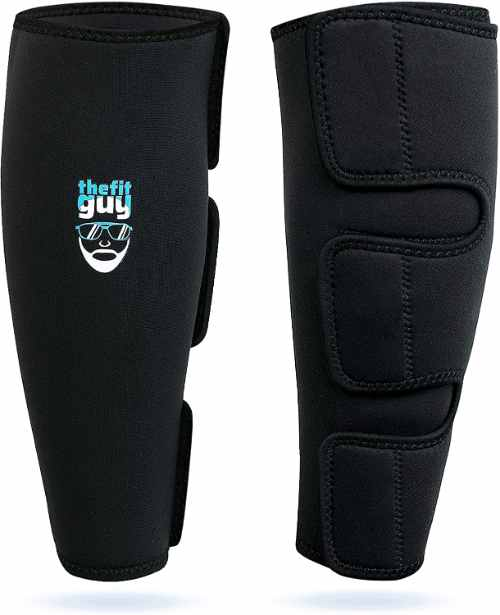 The Fit Guy Deadlifting Shin Guards