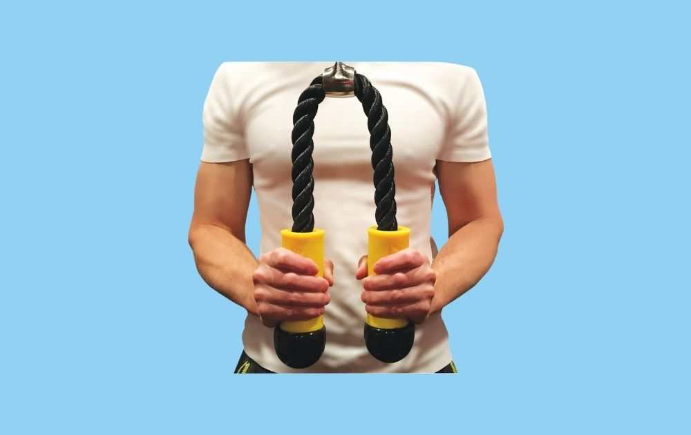 Core Prodigy Tricep Rope with Fat Grip