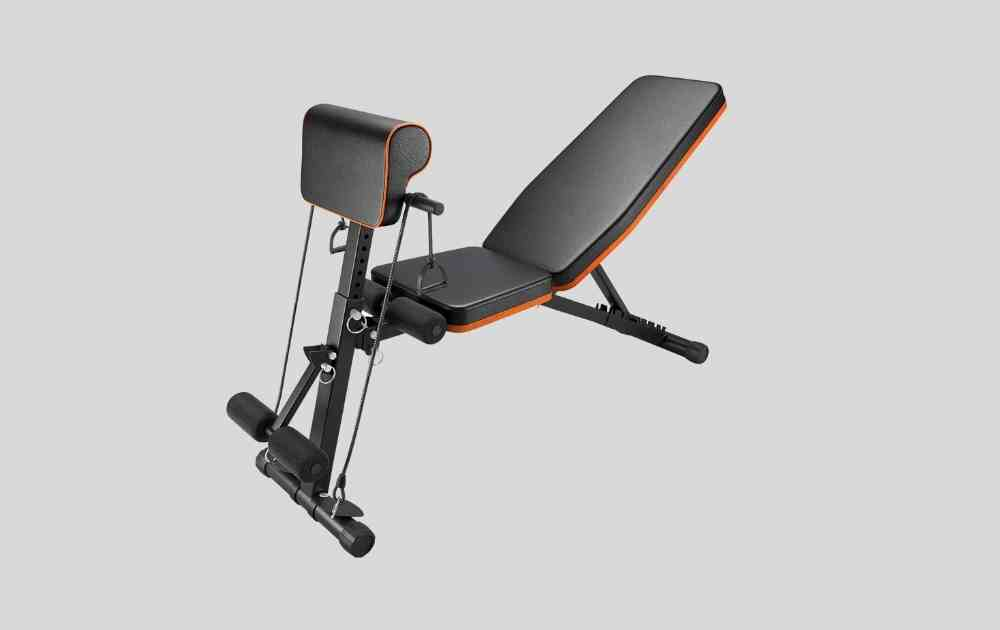 Perlecare Adjustable Weight Bench (with Preacher Curl)