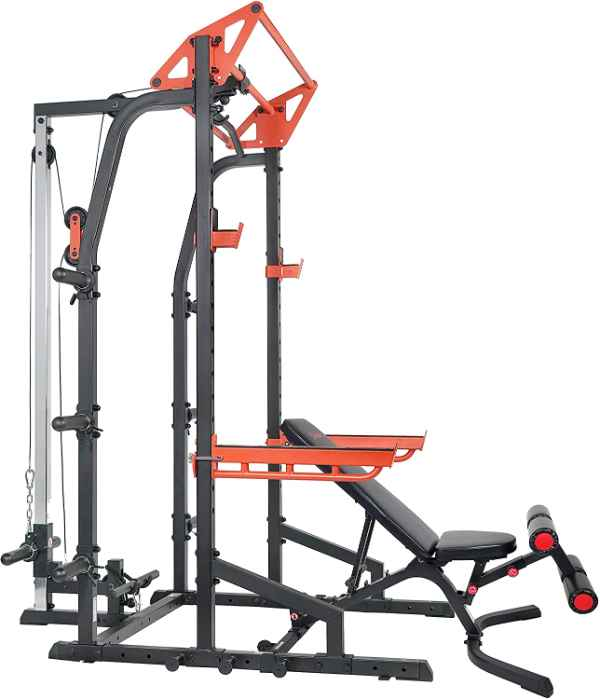 Sunny Health and Fitness Power Zone Half Rack Home Gym