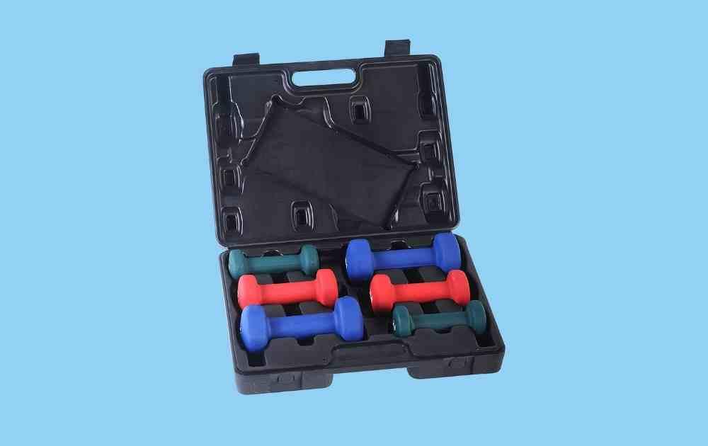 Sunny Health Neoprene Dumbbell Set with Carry Case