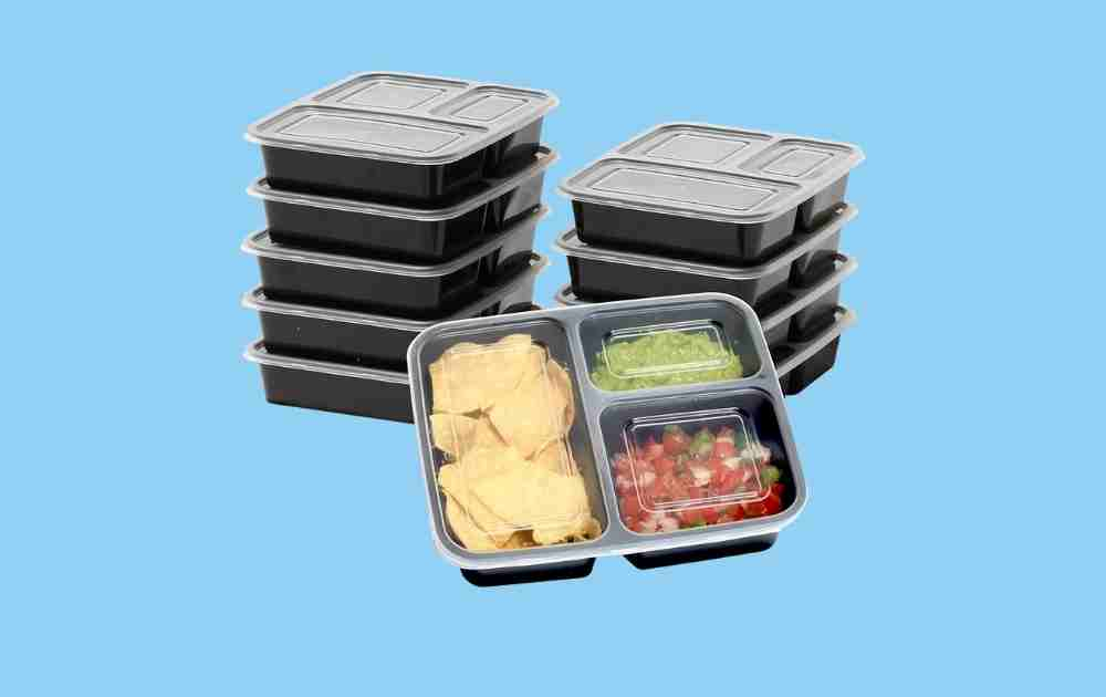 Simplehouseware Meal Prep Containers (Three Compartments)