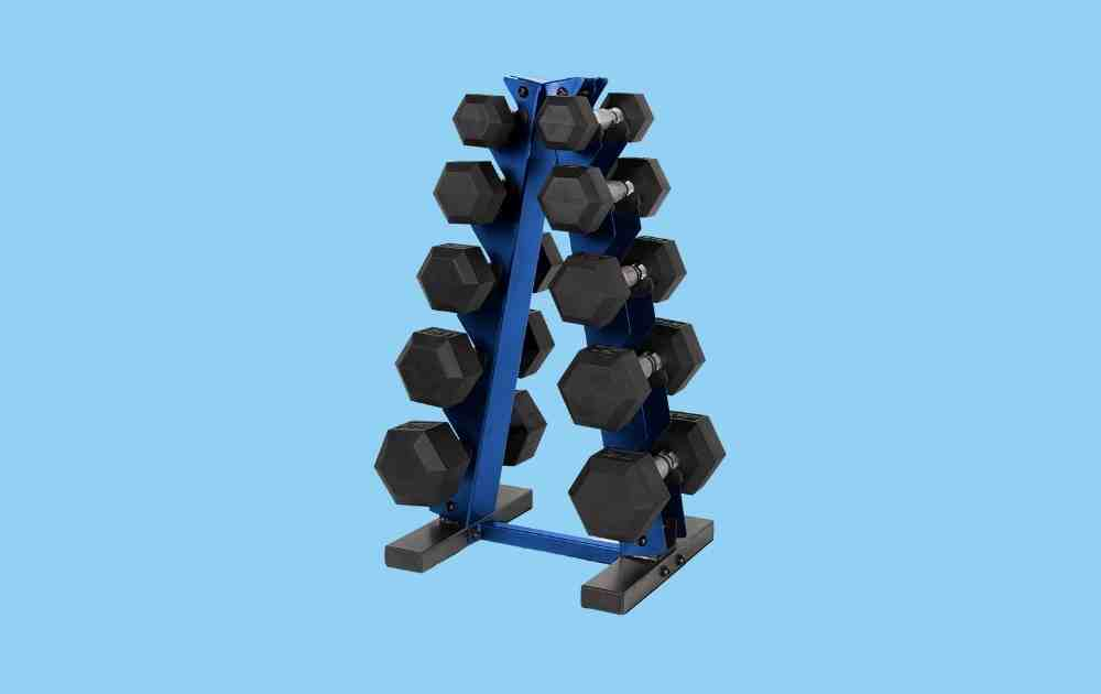 CAP Barbell 150-pound Rubber Hex Dumbbell Set
