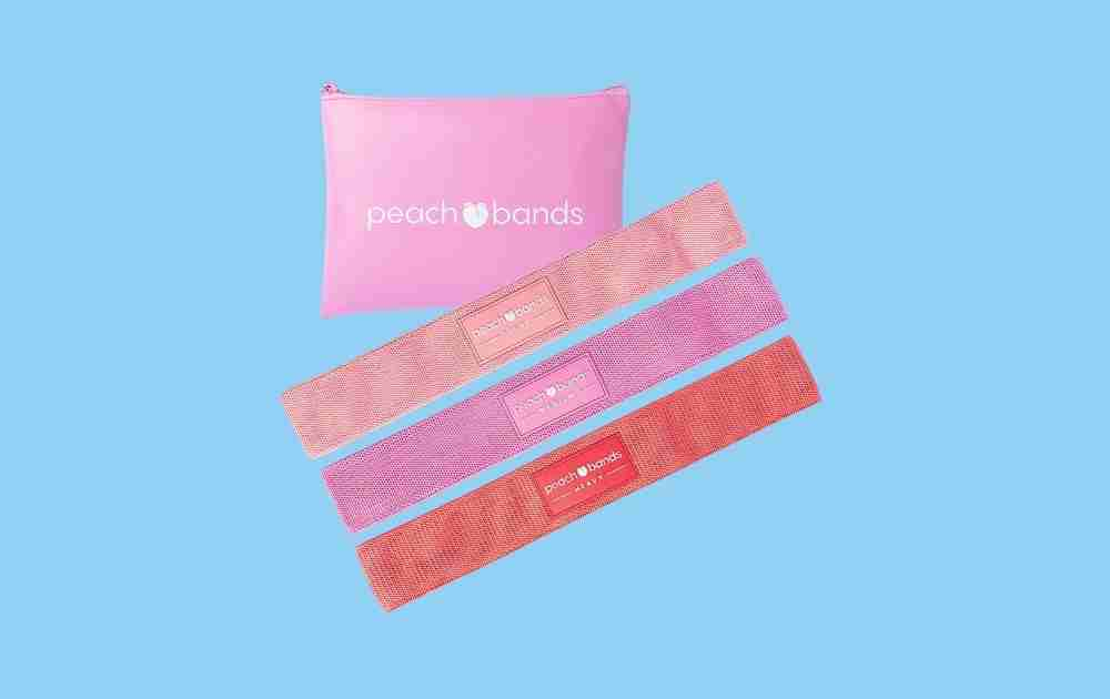 Peach Bands Fabric Resistance Booty Bands