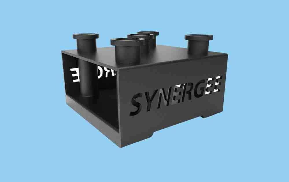 Synergee 5-Barbell Vertical Bar Holder