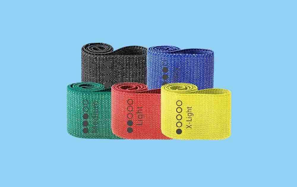 WODSKAI Fitness Fabric Resistance Loop Bands
