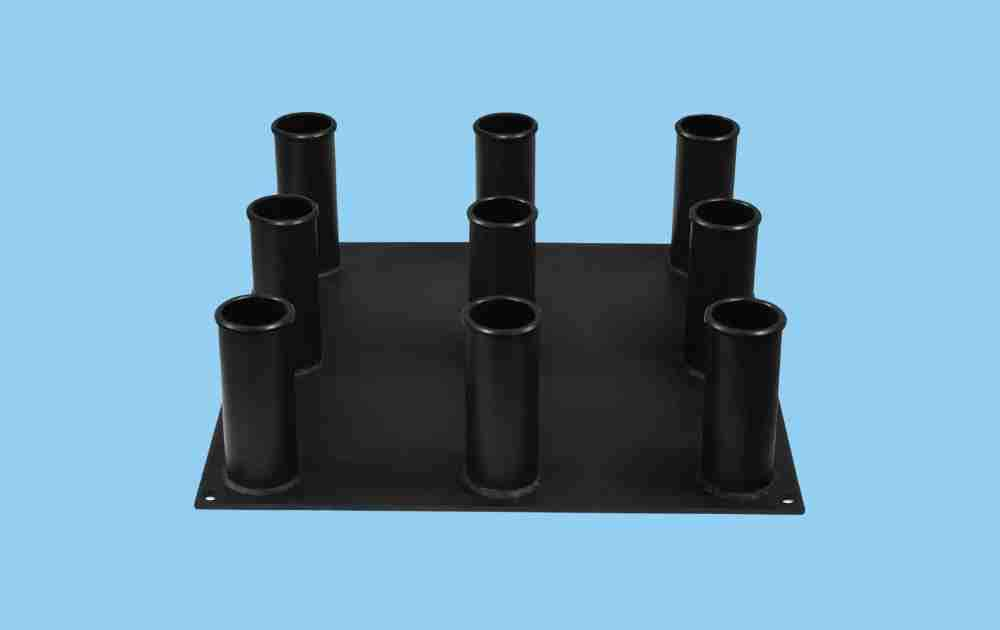 Yes4All 9-Bar Vertical Storage Holder for Olympic Bars